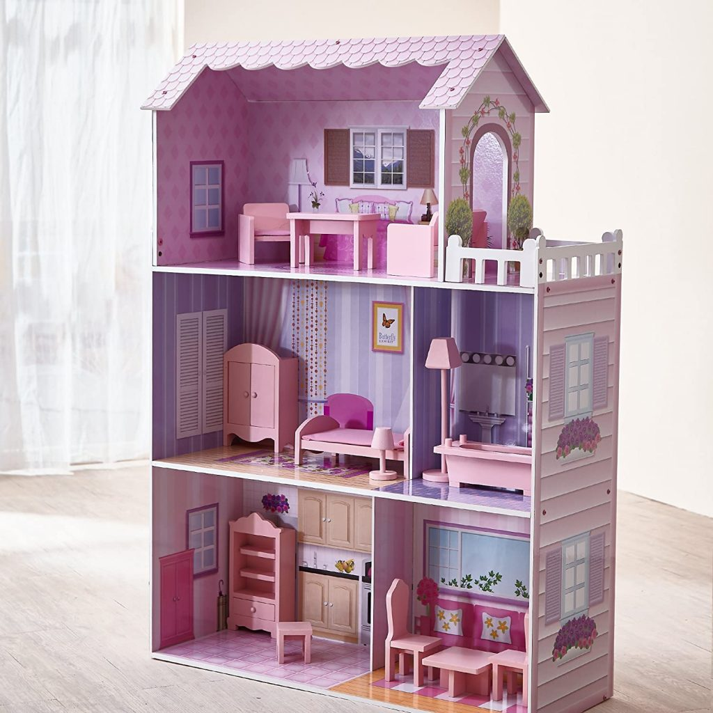 Teamson Kids - Fancy Mansion Wooden Dollhouse